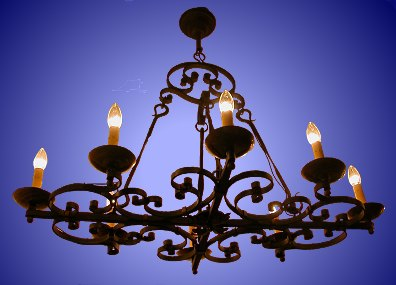 Wrought Iron Candle Chandelier - LoveToKnow: Advice women can trust